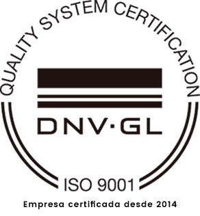 ISO 9001 Quality certification Since 2014